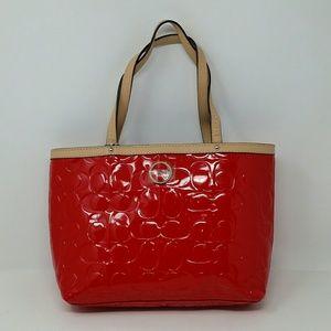 Coach Signature Red Mini Handbag